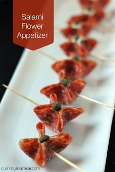 Salami Flower Appetizer
