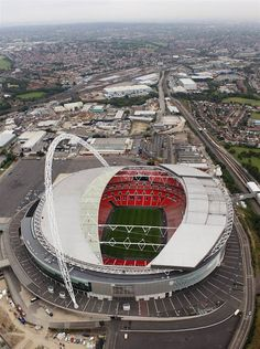 An aerial view of Wembley Stadium, which will host soccer events during the 2012 Games.