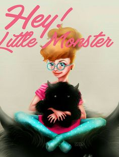 *hey! little Monster #digitalpainting #illustration #desyasaghir