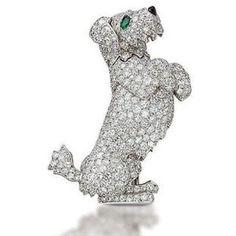 dog brooch | ... dog brooch by cartier christies com an unusual diamond dog brooch by