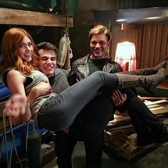 Take a second look hahaha Iol I love them bc they are so funny ❤ #shadowhunterstv #clace #climon