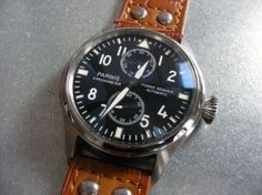 Parnis Pilot III Automatic Power Reserve - Click to enlarge image