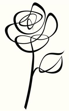 Rose Drawing Two credits line art drawing of a Rose. The leaf is a separate object and can be removed. - Two credits line art drawing of a Rose. The leaf is a separate object and can be removed. Rose Illustration, Stencil Rosa, Line Art, Plant Drawing, Mandala Pattern, Free Vector Art, Pencil Art, Doodle Art, Mail Art