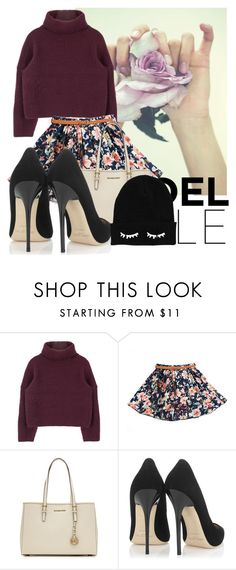 """""""Untitled #424"""" by xxmariana-garciaxx ❤ liked on Polyvore featuring MICHAEL Michael Kors, Jimmy Choo, michaelkors, floralprint, jimmychoo and sweaterweather"""