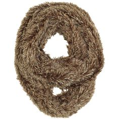 Brown Shaggy Fur Winter Circle Infinity Scarf (£13) ❤ liked on Polyvore featuring accessories, scarves, brown, fur, infinity scarves, tube scarves, infinity loop scarves, infinity scarf and infinity circle scarf