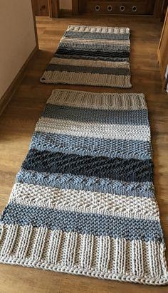 Crochet Afghans, Crochet Rug Patterns, Knitting Patterns, Sewing Patterns, Loom Knitting Blanket, Knitted Blankets, Knitting Stitches, Plaid Crochet, Chunky Crochet