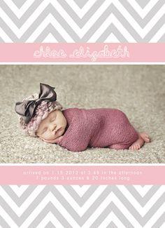 CHEVRON BABY | BIRTH ANNOUNCEMENT TEMPLATES