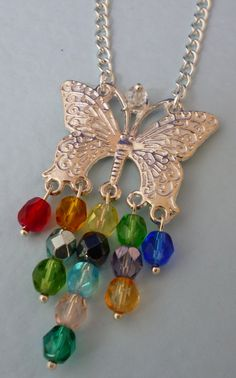 Rainbow Butterfly - pinned by pin4etsy.com