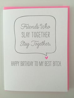 Best Friend Birthday Card Funny By DeLuceDesign Cards