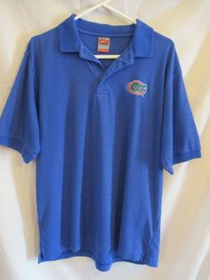 Nike Team NCAA Florida Gators Fit Dry Blue Short Sleeve Golf Polo M Cotton #Nike #FloridaGators