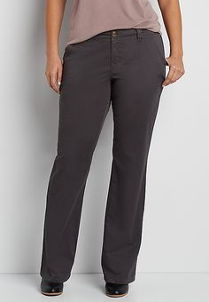 plus size chino pants in slate | maurices
