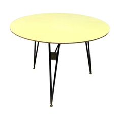 1950s Italian Steel Brass and Formica Table 08