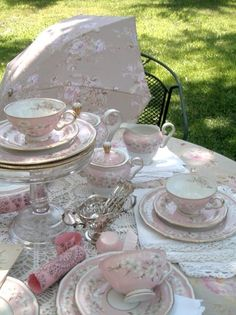 Beautiful tea setting