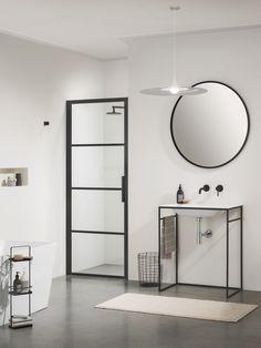 Impey Soho Pivot Doors for Recess : UK Bathrooms Vintage Bathrooms, Rustic Bathrooms, Small Bathroom, Industrial Bathroom, Pivot Doors, Shower Screen, Wet Rooms, Shower Enclosure, Contemporary Bathrooms