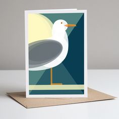 Seagull Greeting Card With Kraft Envelope. Eco Friendly by Mimi & Mae, the perfect gift for Explore more unique gifts in our curated marketplace. Plastic Waste, No Plastic, Kraft Envelopes, Mid Century Design, Creative Gifts, Eco Friendly, Recycling, Greeting Cards, Forests