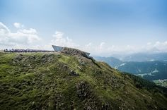 Zaha Hadid's Messner Mountain Museum tunnels through a mountain peak!