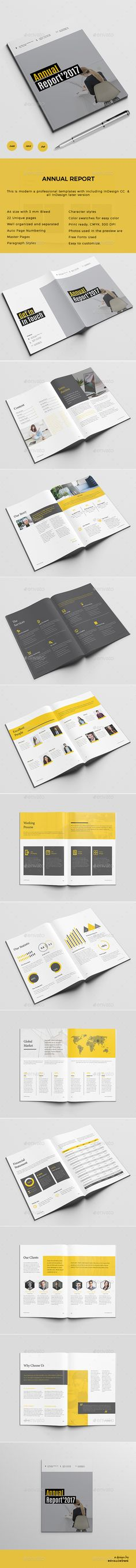 Annual Report by Royalcrown Annual Report It's a very unique template for modern business. This template can be used for Business Firm/ Company or Office and