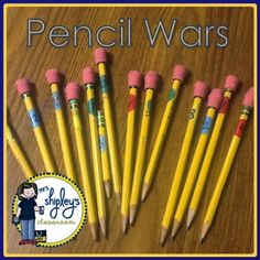 Mrs. Shipley's Classroom: April Bright Ideas:Pencil Wars
