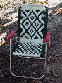 macrame chair pattern.