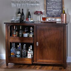 Firenze Mezzo Wine and Spirits Credenza with 28 Bottle Touchscreen Wine Refrigerator - Wine Enthusiast