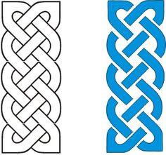 "2 by"" Celtic knots, no breaks | Nacho Grandma's Quilts"