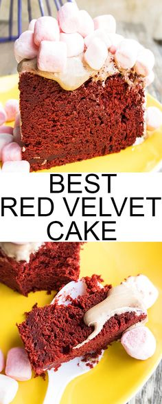 This moist RED VELVET CAKE recipe from scratch requires simple ingredients and pairs well with cream cheese frosting. It's also great for making classic red velvet layer cakes. From cakewhiz.com