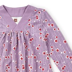 """Maiko is a Japanese girl's name that means """"dancing child."""" Whether she's dancing, daydreaming or discovering new things, this swingy dress will keep her looking cute and feeling comfy."""