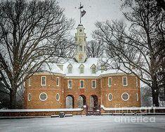 Colonial Capitol in Winter II by Karen Jorstad