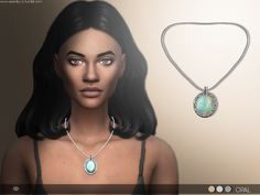 Sims 4 CC's - The Best: SIMPLE OPAL NECKLACE by serenity
