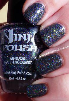 Ninja Polish Eye Candy over Nails Inc. Paddington Ninja Nail Polish Lacquer Floam Holographic metallic effect nail polish @opulentnails #ninjanails #floam