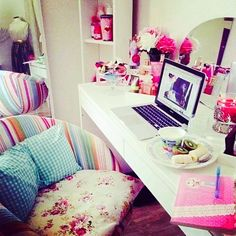 Girly room setup