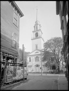Church of the First Religious Society in Newburyport (Unitarian), Newburyport, Mass. Plum Island, My Town, Historical Society, Massachusetts, American History, New England, Family History, Antique, Image