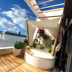 Urban Garden Balcony Idea