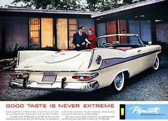 "1959 Plymouth Fury ""Good Taste Is Never Extreme"" - Promotional Advertising Poster"