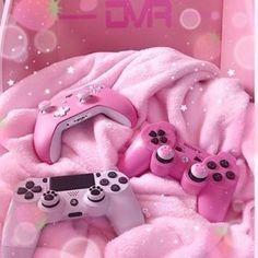Bedroom Wall Collage, Photo Wall Collage, Pink Love, Cute Pink, Pink Games, Otaku Room, Baby Pink Aesthetic, Gaming Room Setup, Kawaii Room