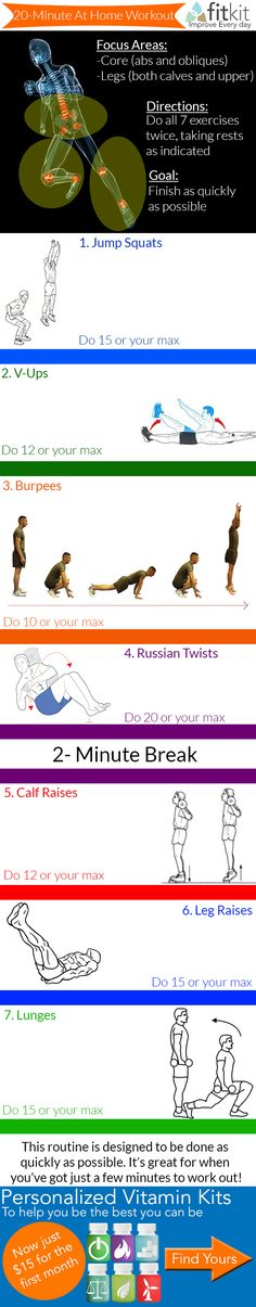 Core-Building Workout You can do at Home (Infographic)