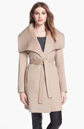 Fleurette Oversized Collar Wool Wrap Coat