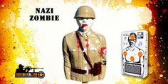 """Blow up """"Nazi"""" zombie target, filled with explosives!"""