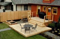Stepped Down Porch And Deck Google Search Modern Decorating Plans