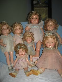 Collection of Shirley Temple dolls .... composition ... 1930s