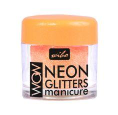 Neonowy pyłek brokatowy w kolorze neonowej pomarańczy
