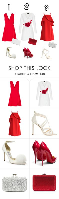 """Christmas Work Party"" by bella-trendsetter ❤ liked on Polyvore featuring Versace, Rasario, Chicwish, Jimmy Choo, Christian Louboutin, Lulu Townsend and Dorothy Perkins"