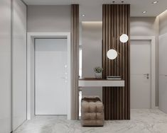 Hallway – Home Decor Designs Entrance Foyer, House Entrance, Entryway Decor, Flur Design, Wall Design, House Design, Living Room Designs, Living Room Decor, Dressing Table Design