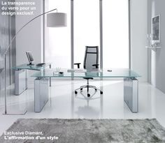 Furniture. Spacious Office Furniture Design With Modern Desk ...