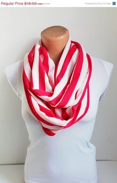 ON SALE Infinity Scarf Loop Scarf Circle Scarf Cowl by fairstore, $13.60