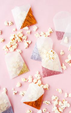 All that Glitters: DIY Color Blocked Glitter Gift Bags for Valentine's Day