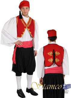 Man from Aegean Islands - 642092 Mykonos, Santorini, Island Man, Island Girl, Twelfth Night, Shirt Embroidery, Folk Costume, Traditional Outfits, Islands