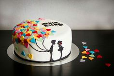 Förlovningstårta engagemangetcake cake engagemanget förlovning love kärlek tårta cake  ⭐sockerlinn.se⭐