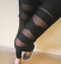 Cross belt net yarn splicing leggings