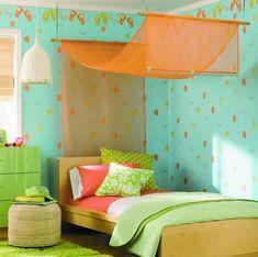 кровать с навесом для девочки